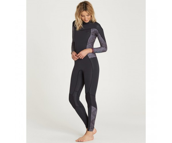 Billabong Women's Synergy 3/2 Back Zip Black
