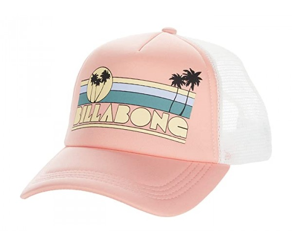 Billabong Across Waves Trucker Hat Coral