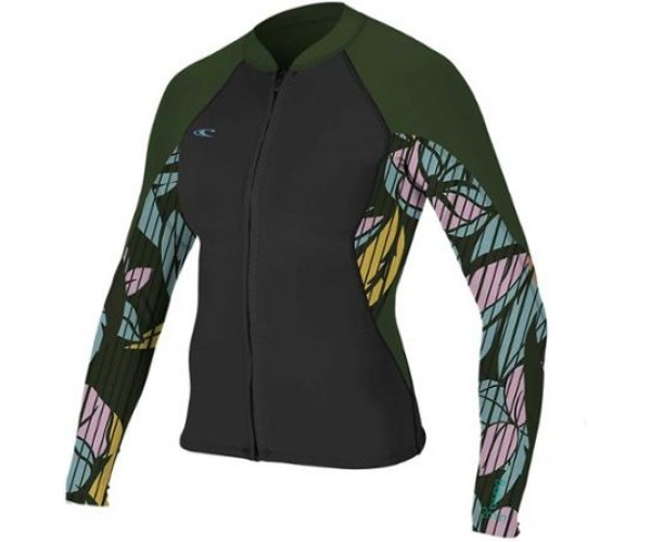 O'Neill Ladies Bahia 1.5mm Full-Zip Black/Baylen/Olive