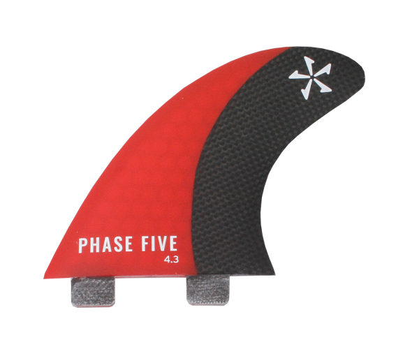 Phase 5 Carbon Surf Twin Fin 4.3'' Set Red