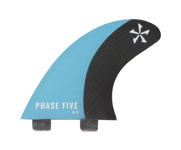 Phase 5 Carbon Surf Twin Fin 4.3'' Set Blue