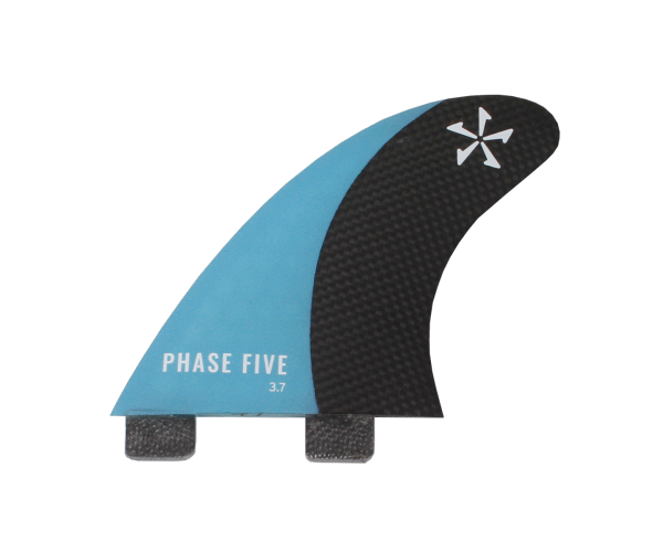 Phase 5 Carbon Surf Twin Fin 3.7'' Set Blue