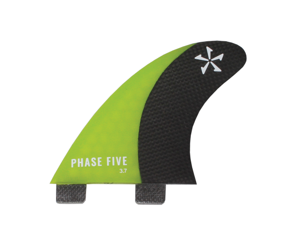Phase 5 Carbon Surf Twin Fin 3.7'' Set Green