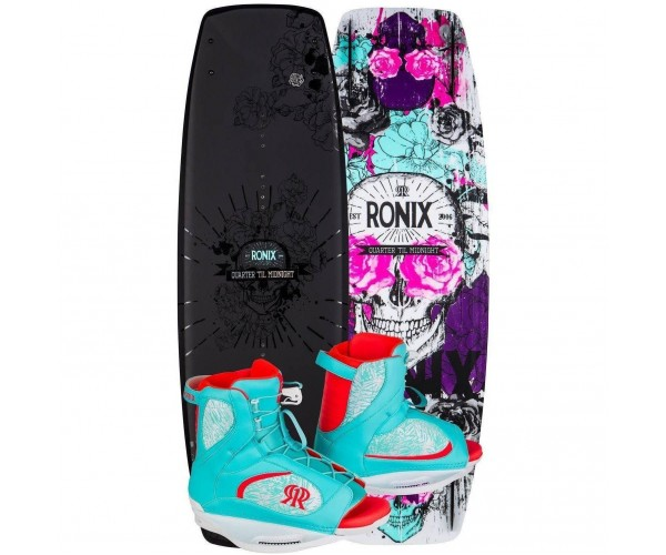 Ronix Quarter Til Midnight Black/Pink 129 / Luxe 6-8.5 Package